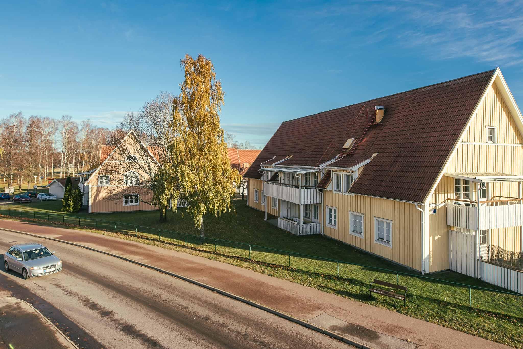 ett hyreshus på Björkhagen